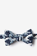 Navy Blue Microfiber The Great Wave Off Kanagawa Butterfly Bow Tie