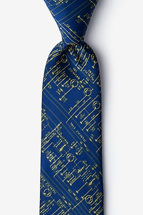 _Transistor Radio Schematics Navy Blue Extra Long Tie_