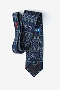Ugly Christmas Sweater Navy Blue Tie Photo (1)