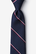 Navy Blue Microfiber Understated Patriot Extra Long Tie