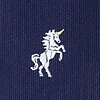 Navy Blue Microfiber Unicorns Extra Long Tie