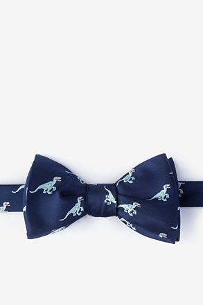 Velociraptor Navy Blue Self-Tie Bow Tie
