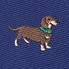 Navy Blue Microfiber Weiner Dogs Extra Long Tie