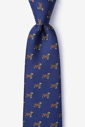 Weiner Dogs Navy Blue Tie