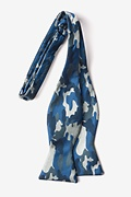 Woodland Camo Navy Blue Self-Tie Bow Tie Photo (1)