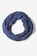 Boston Solid Navy Blue Infinity Scarf by Scarves.com