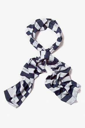 Mens Caravan Stripe Navy Blue Scarf