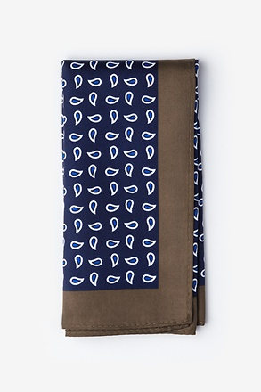 Neil Navy Blue Pocket Square