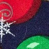 Navy Blue Polyester Ornaments & Snowflakes Tie
