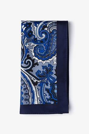 Thomas Navy Blue Pocket Square
