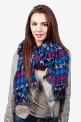 Navy Blue Polyester Veronica Scarf