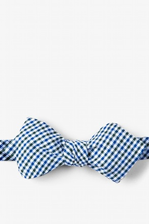 Chrome Plaid Diamond Tip Bow Tie