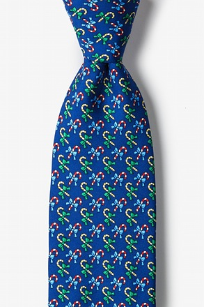 _A Good Cane-ing Navy Blue Tie_