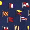Navy Blue Silk A-Z International Flags Tie