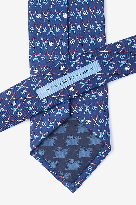 All Downhill From Here Navy Blue Extra Long Tie Photo (2)