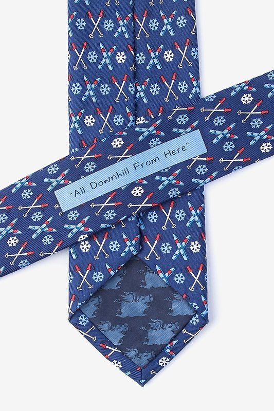 All Downhill From Here Navy Blue Skinny Tie Photo (2)