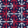 Navy Blue Silk Anchor Accoutrement