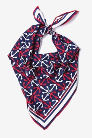 Navy Blue Silk Anchor Accoutrement Neckerchief