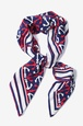 Navy Blue Silk Anchor Accoutrement Square Scarf