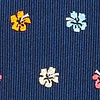 Navy Blue Silk Awesome Blossoms Extra Long Tie