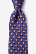 Navy Blue Silk Ball is Life Tie