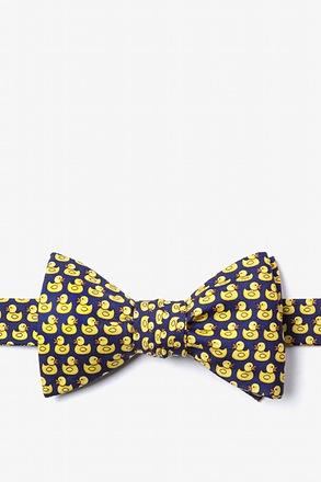 _Bath Companion Navy Blue Self-Tie Bow Tie_