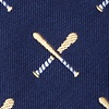 Navy Blue Silk Batter Up Tie