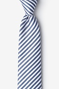 Navy Blue Silk Bear Island Extra Long Tie