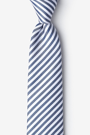 _Bear Island Navy Blue Tie_
