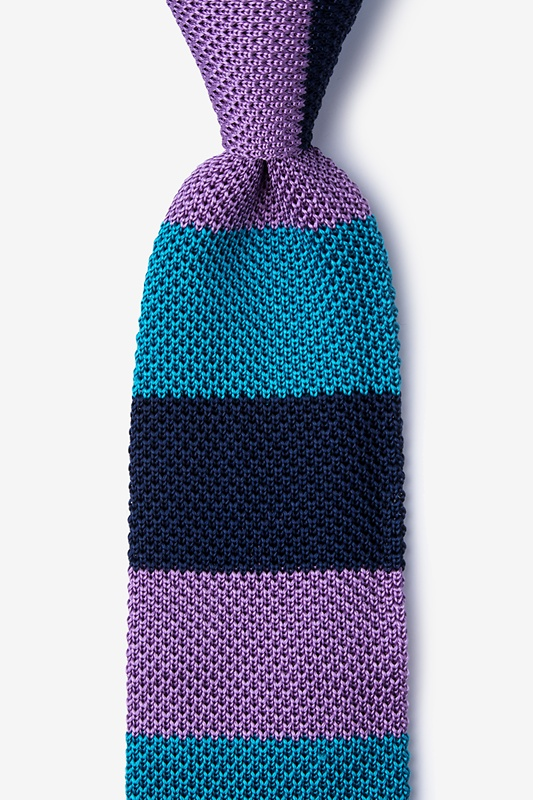 Belgian Color Block Knit Tie Photo (0)