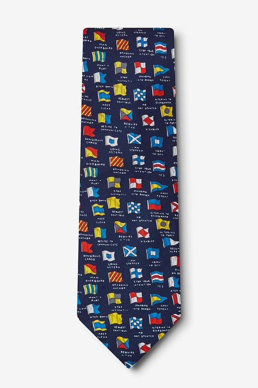 Boating Signals Tie by Eric Holch for Alynn Neckwear