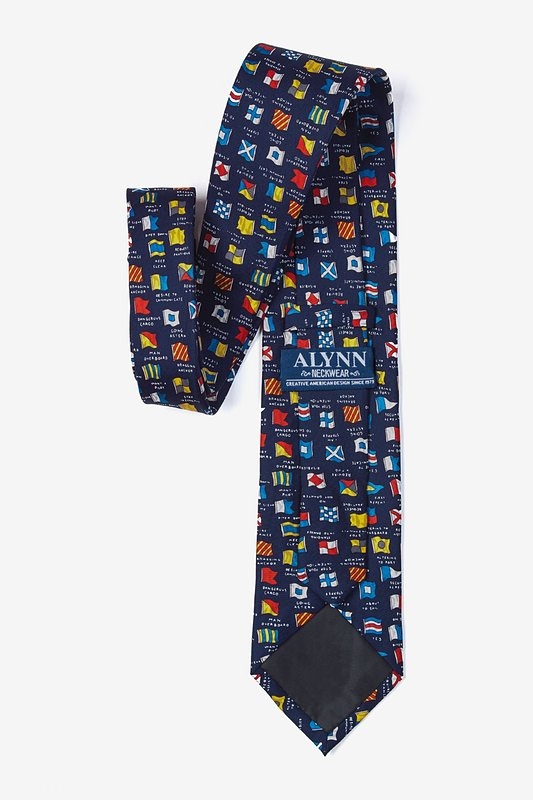 Boating Signals Navy Blue Tie Photo (2)