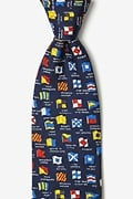 Boating Signals Navy Blue Tie Photo (0)