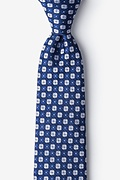 Navy Blue Silk Boracay Extra Long Tie