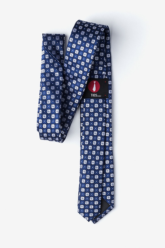 Boracay Navy Blue Skinny Tie Photo (1)