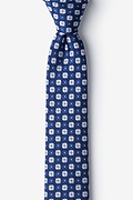 Boracay Navy Blue Skinny Tie Photo (0)