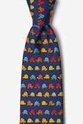 Box Turtles Navy Blue Tie Photo (0)