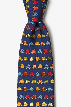 _Box Turtles Navy Blue Tie_