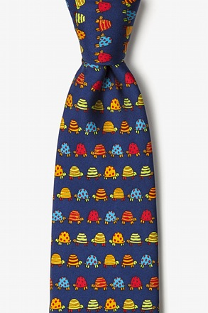Box Turtles Navy Blue Tie