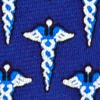 Navy Blue Silk Caduceus