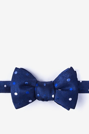 _Canary Navy Blue Self-Tie Bow Tie_