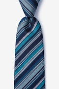 Navy Blue Silk Carn Extra Long Tie