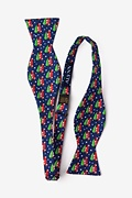 Christmas Car-ma Navy Blue Self-Tie Bow Tie Photo (1)