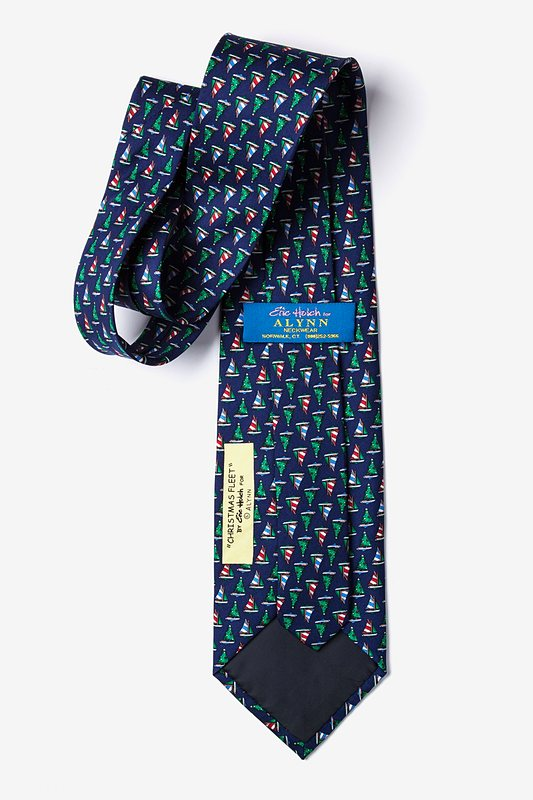 Christmas Fleet Navy Blue Tie Photo (2)