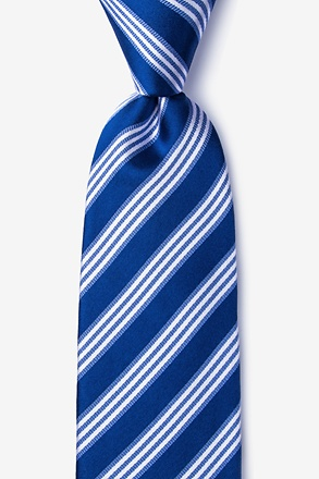 Clare Navy Blue Extra Long Tie
