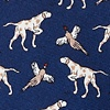 Navy Blue Silk Clear & Pheasant Danger Tie