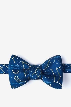 _Connect The Dots Navy Blue Self-Tie Bow Tie_