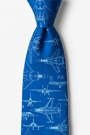 _Cool Your Jets Navy Blue Tie_
