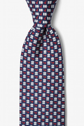 Court Case Navy Blue Tie