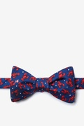 Navy Blue Silk Crustacean Nation Bow Tie